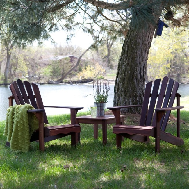 adirondack outdoors with table