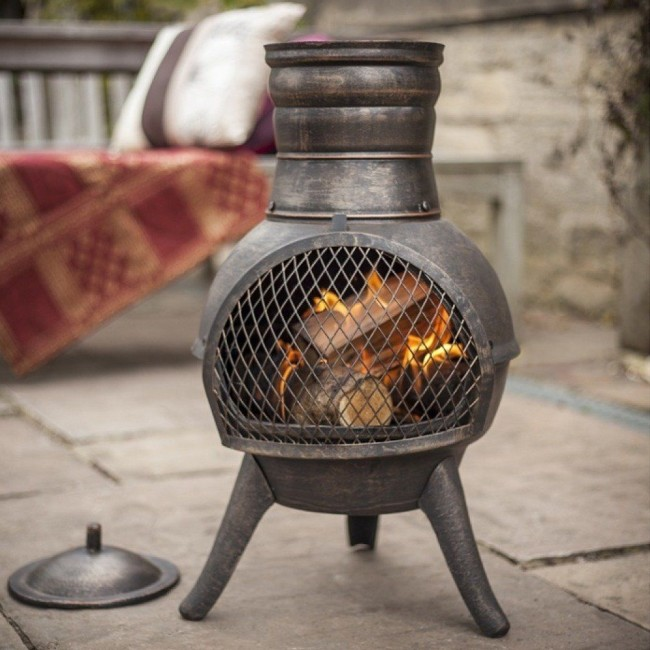 Small Iron Chimenea
